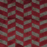 Sarabande Fabric - Rouge Piment / Champagne