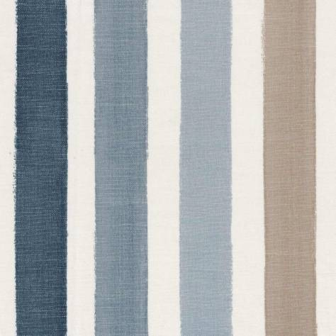 Casamance  Touquet Paris Plage Fabrics The Cabins Fabric - Glacier / River Blue - 44120475 - Image 1
