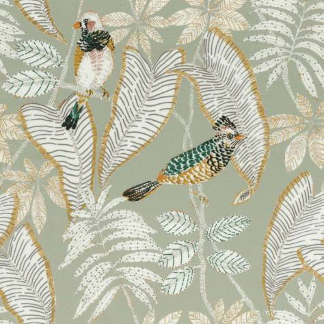 Casamance  Parisian Night Fabrics Grand Duke Fabric - Pale Green - 43900437