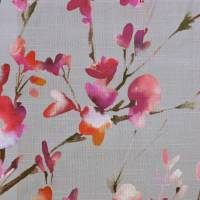 Belsay Fabric - Peony/Silver