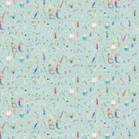 Alphabet People Fabric - Mint