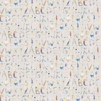 Alphabet People Fabric - Oat