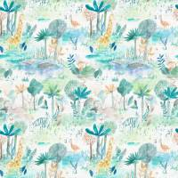 Jungle Fun Fabric - Aqua