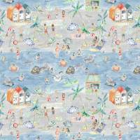 Let's Go To The Beach Fabric - Stone