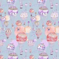 Up and Away Fabric - Lilac