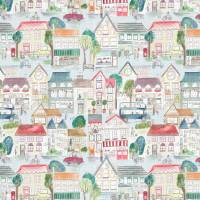 Village Streets Fabric - Primary