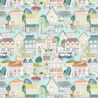 Village Streets Fabric - Sunburst