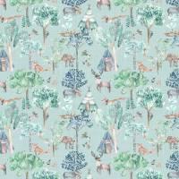 Woodland Adventures Fabric - Aqua