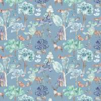 Woodland Adventures Fabric - Denim