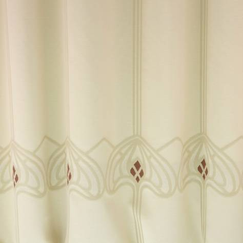 OUTLET SALES All Fabric Categories Artglass Fabric - Parchment/Chocolate - AAC001