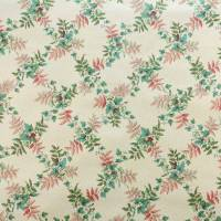 Baker Flower Fabric - Peach/Green
