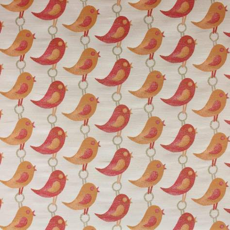 OUTLET SALES All Fabric Categories Bill Beaumont Chirpy Fabric - Cherry - CHI003