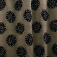 Flower Fabric - Black