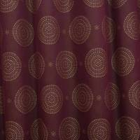 Circles Fabric - Burgundy