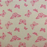 Clarke and Clarke Mariposa Fabric - Pink