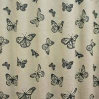 Clarke and Clarke Mariposa Fabric - Noir