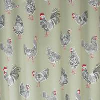 Clarke and Clarke Rooster Fabric - Sage