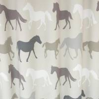 Clarke and Clarke Stampede Fabric - Linen