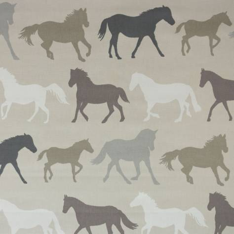 OUTLET SALES All Fabric Categories Clarke and Clarke Stampede Fabric - Linen - STA003