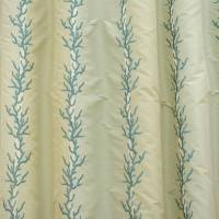 James Hare Coral Stripe Fabric - Aqua Marine