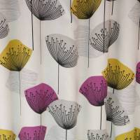 Dandelion Clocks Fabric - Gold/Mauve