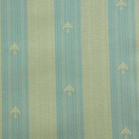 OUTLET SALES All Fabric Categories Fleur de Lys Stripe Fabric - Green - FLE003