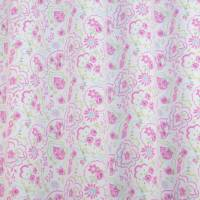Heather Paisley Fabric - Rose
