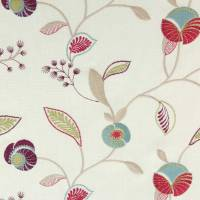 Hickory Fabric - Berry/Teal