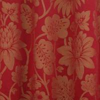 Acorn Fabric - Red/Gold