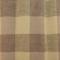 Loire Check Fabric - Truffle