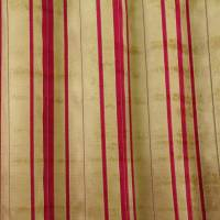 Kyra Stripe Fabric - Red/Gold