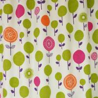 Lollipop Flower Fabric - Fuchsia/Orange