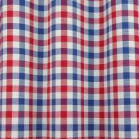 Hereford Fabric - Red/Blue