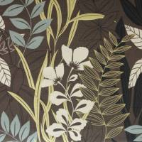 Oleana Fabric - Brown/Duckegg