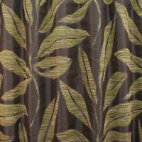 Panama Fabric - Choc/Green