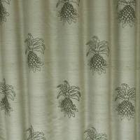 James Hare Pineapple Fabric - Oyster/Grey