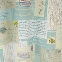 Postcards Fabric - Eau de Nil