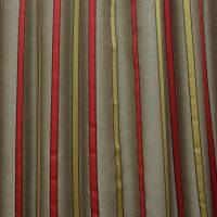 James Hare Ribbon Stripe Fabric - Chilli