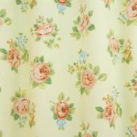 Roses Fabric - Lemon/Peach