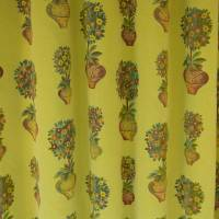 Orange Trees Fabric - Antique