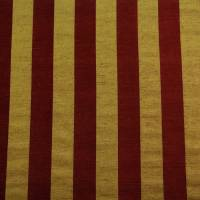 Stripe Fabric - Wine/Gold