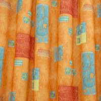 Swirl Leaf Fabric - Orange