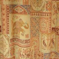 Taj Mahal Fabric - Gold