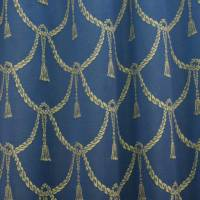 Tassels Fabric - Blue/Gold