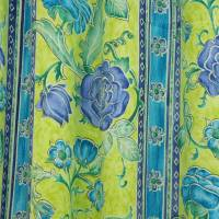 Tudor Roses Fabric - Lime