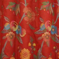Vine Fabric - Terracotta