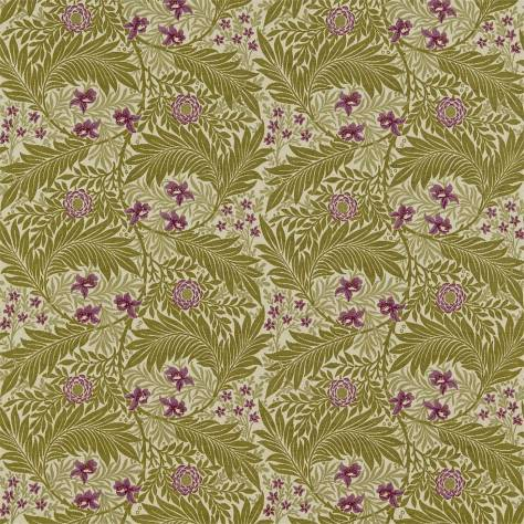 OUTLET SALES Morris / Sanderson Exclusive Clearance! Larkspur Fabric - Artichoke/Heather - DKELLA303C