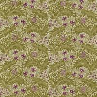 Larkspur Fabric - Artichoke/Heather