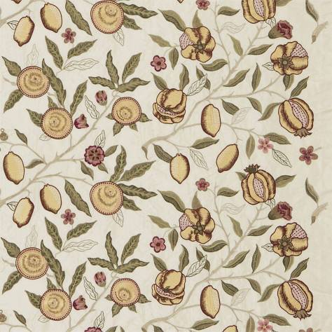 OUTLET SALES Morris / Sanderson Exclusive Clearance! Fruit Embroidery Fabric - Stone/Cowslip - DMOEFR304C