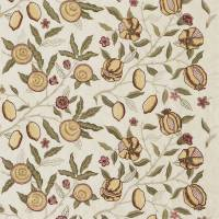 Fruit Embroidery Fabric - Stone/Cowslip